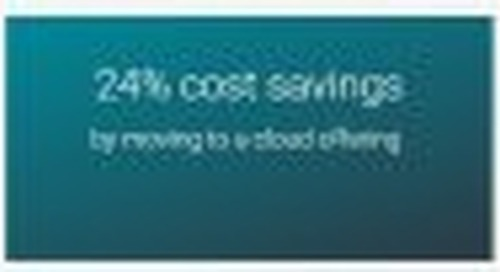 HowKentersaved24% of capital costs by moving customer data to the cloud