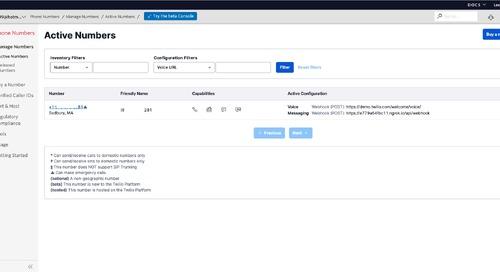 API Builder: Twilio SMS Webhook Custom API