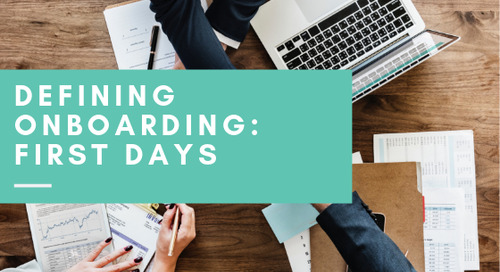 Defining Onboarding: First Days