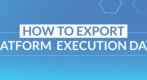 How to Export Platform Execution Data