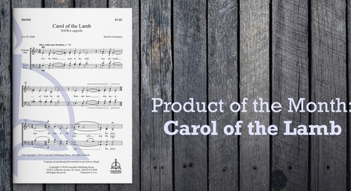 Product of the Month: Carol of the Lamb