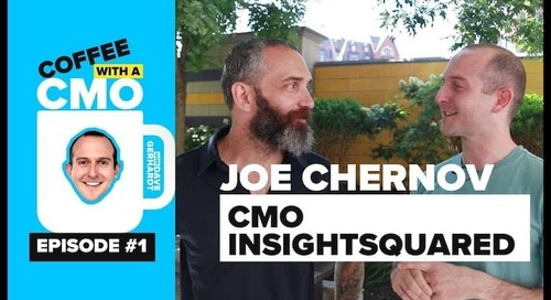 Coffee With a CMO: Lessons From Joe Chernov On Micromanaging, Interviews, Bad Metrics and More