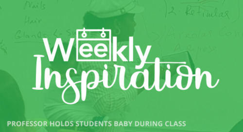 [Weekly Inspiration] Professor in Georgia Holds Student's Baby in Class