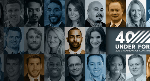 Announcing 40 Under 40: Construction Champions of 2019