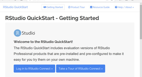 Try out RStudio Connect on Your Desktop for Free
