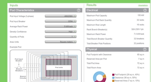 How much power? What density? The IT Pod Sizing Calculator can help answer these data center questions.
