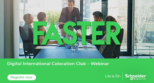 Schneider Electric Colocation Club to Host Webinar on Future Data Center Requirements for Growth