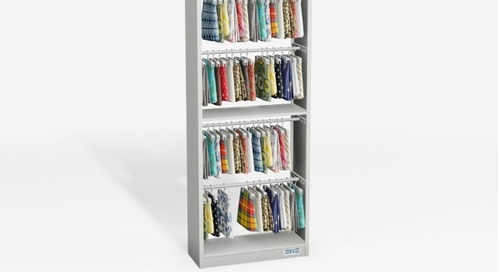 Adjustable Textile Display Racks | Fabric Swatch Book Storage Hanger Bars