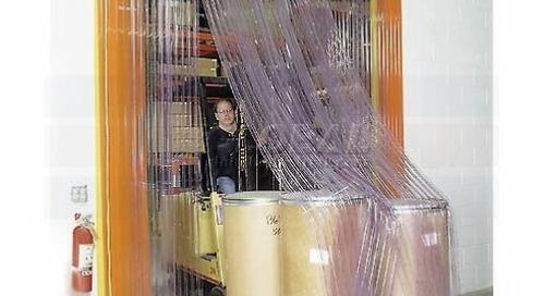 Warehouse Strip Door Curtains   Clear Vinyl Industrial Barriers