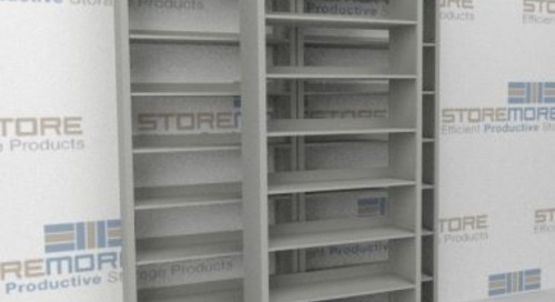 Sliding File Cabinets | Stacked Mobile Storage Bin Racks
