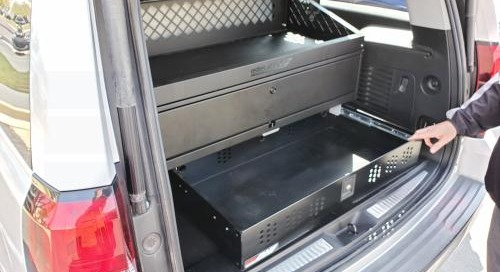Police Vehicle Gun Lockers | SUV Sedan Trunk Weapon Storage