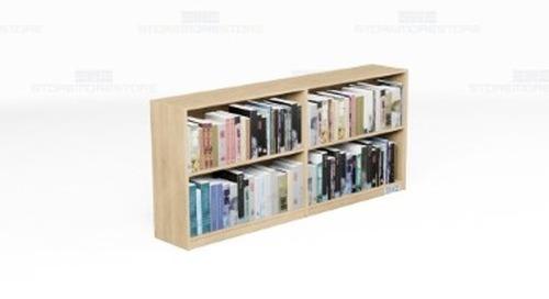 Library Book Wall Shelving    Magazine Display Storage Adjustable Shelves