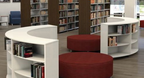 Mobile Curved Bookcases for Classroom & Library Storage