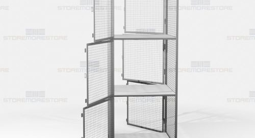 Employee Dispatch Lockers with Pass-Thru Wire Mesh Compartments