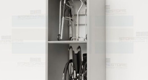 Medical Equipment Shelves Adjustable Storage for Fold-Up Mobility Aids