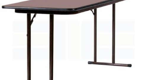 Rolling Training Tables Adjustable Desks for Seminars & Computer Labs