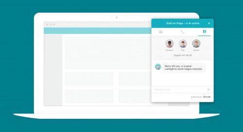 5 minuters-regeln: Sälj mer med livechatt på din hemsida