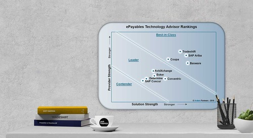 Tradeshift payables technology solutions ranked Best-in-Class in Ardent Partners ePayables Technology Advisor
