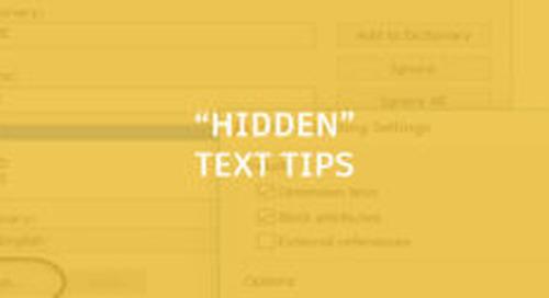 """""""Hidden"""" Text Tips"""