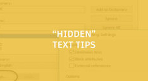"""Hidden"" Text Tips"