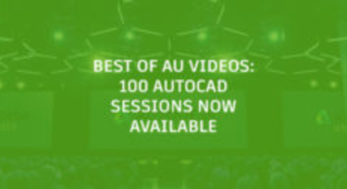 Autodesk University 2018 Recorded Classes Now Online
