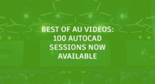 Autodesk University 2018 Recorded Classes Now Online