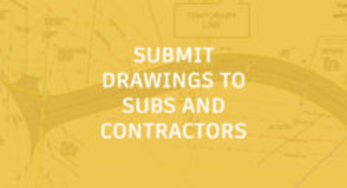 Tips for Submitting Drawings to Sub-consultants and Contractors
