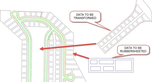 Map 3D Toolset Tools for Regular AutoCAD Objects [Part Three]: Transform and Rubber Sheet