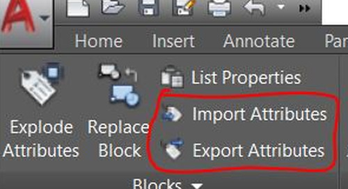 Quickly Change and Modify AutoCAD Block Attributes With Export and Import: Tuesday Tips With Brandon