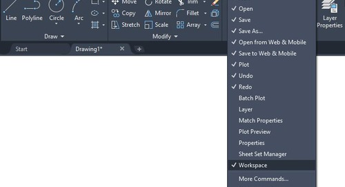 How to Customize the Quick Access Toolbar in AutoCAD LT