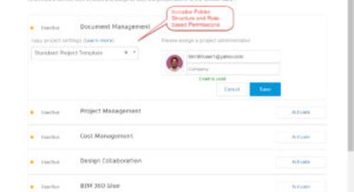 Document Management Update - Project Templates