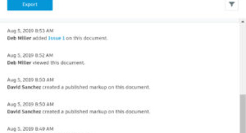 Document Management Update - Activity Logs & Review / Markup Enhancements