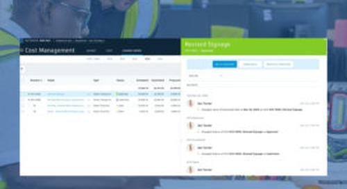 BIM 360 Cost Management Updates – March 2020