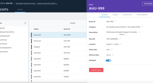 BIM 360 Assets – Standard attribute changes