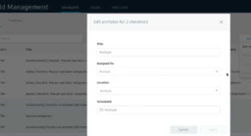 BIM 360 Checklists – New Features Support Better Standardization and Time Savings