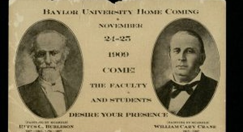 Looking Back at Baylor: The First Homecoming