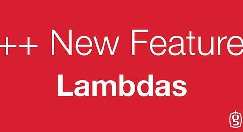 New Features of C++: Lambdas