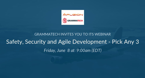 Webinar with AFuzion: Safety, Security, and Agile Development - Pick Any Three