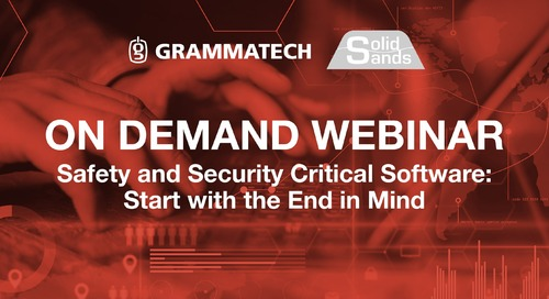 On Demand Webinar featuring Solid Sands | Safety and Security Critical Software: Start with the End in Mind