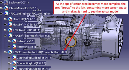CATIA V5 Tip: Specification Tree Size Character Dependent