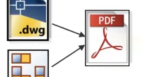 Publish PDF from 2D CAD files - Synchronize the revisions and lifecycle of the drawing file and 2D PDF file