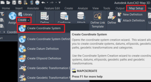 Create new Coordinate System from a PRJ file