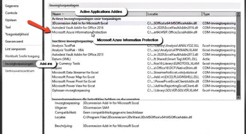 Vault Pro Client Add-in for MS Office 365 is continuously becoming disabled in Excel and Word
