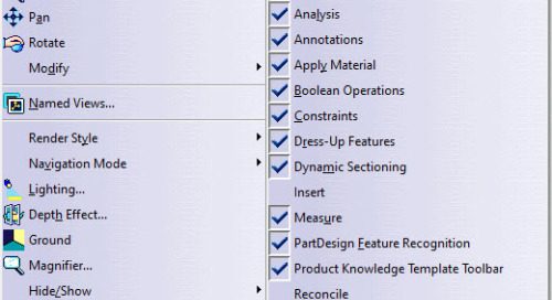 CATIA V5-6 Tip: How to Customize Your Toolbars and Reset the Position of a Toolbar