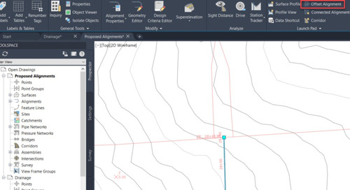 Dynamic Civil 3D Offset Alignments and Widenings