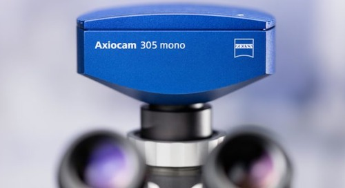 New fast 5 megapixel microscope camera for routine fluorescence applications