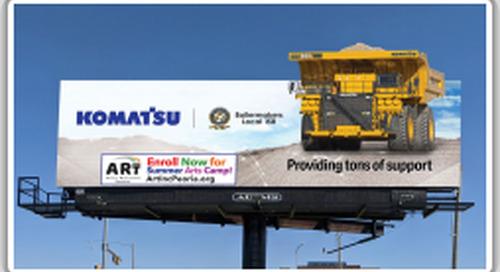Komatsu includes Boilermakers in billboard
