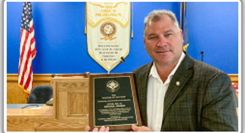 Local 13 takes top NACBE national safety award