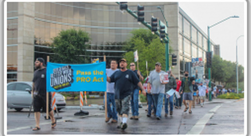 Local 627 joins Arizona State AFL-CIO for PRO Act rally