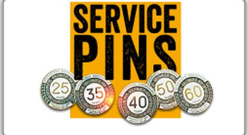 Locals award service pins